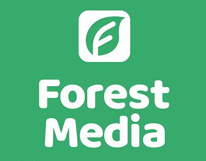 Логотип для креативной медиа-компании Forest Media.