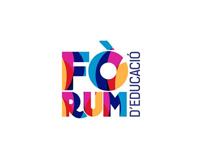 Branding publicidad Fòrum d'Educació