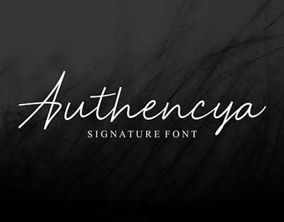 Authencya   Signature Font
