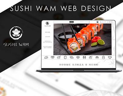 SUSHI WAM - WEB UI/UX DESIGN | ▲ 2018