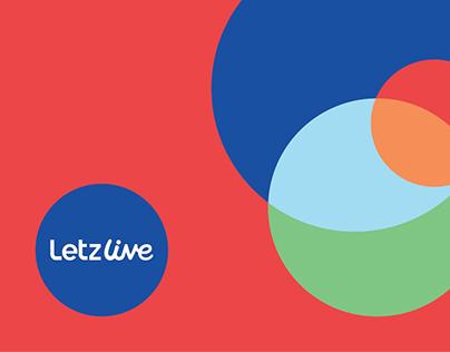 LetzLive Logo & Brand Identity