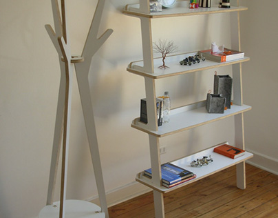 Coat Rack and Shelf for Proyecto Número