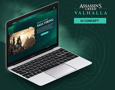 Assassin's Creed Valhalla - Website concept