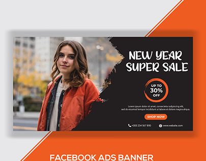 New Year Sale Facebook Ads Banner-2