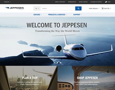 Concept Design for Jeppesen Website -