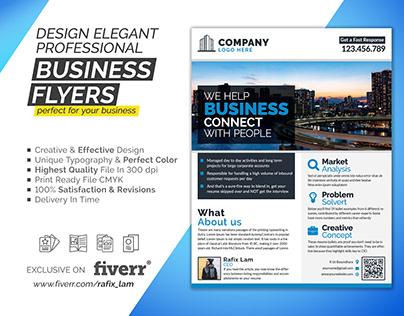 I will design professional business flyer & postcard