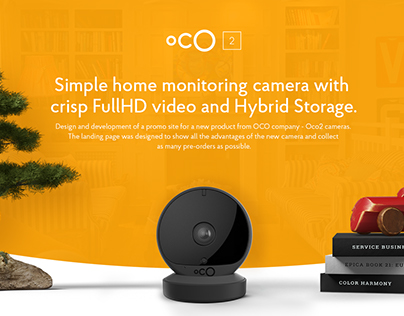 Oco2 - promo website for the new full HD camera.