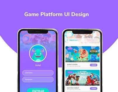 Game Platform - UI Design