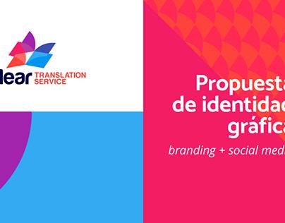 Propuesta identidad gráfica, Clear Translation Service