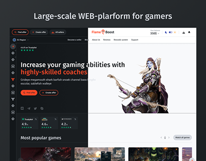 FlameBoost - Large-scale web-interface for gamers