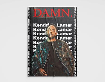 Kendrick Lamar Poster Design