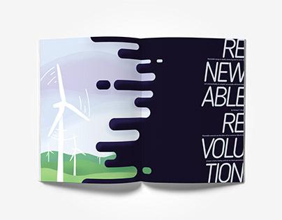 The Renewable Revolution: Magazine Spread Design