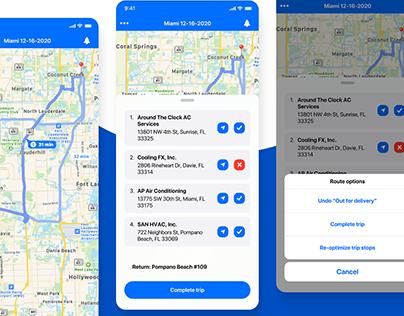Truck Delivery   UI/UX 2021 mobile app design