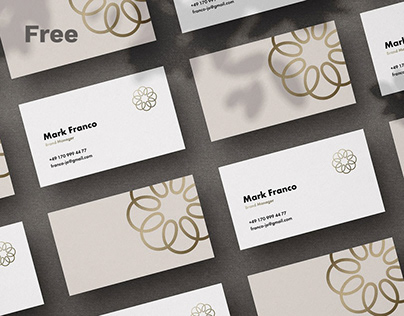 Mote Free Business Card Mockup