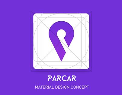 Parcar - Material design concept for parking cars