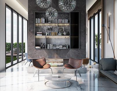 Modern reception design for interno design studio, oman