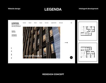 LEGENDA   Website Redesign