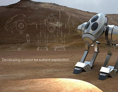 3D model scout robot