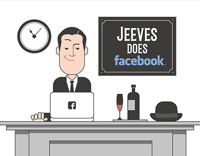 Jeeves does Facebook