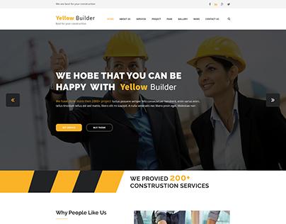 Yellow Builder Construction Template
