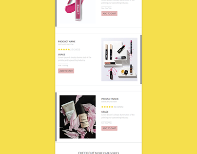 Responsive HTML new product launch template