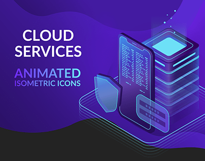 Cloud services (animated icons)