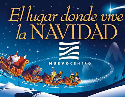 Ilustración para campañas de Navidad Nuevo Centro