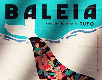 Baleia / gig poster