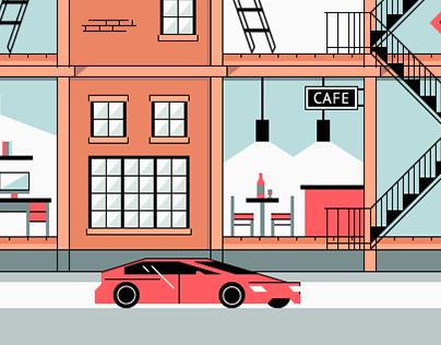 Lofts — animated illustartions