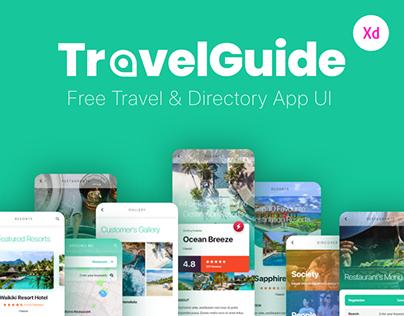 TravelGuide - A Free Travel & Directory App UI