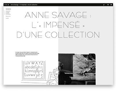 Anne Savage : L'« impensé » d'une collection