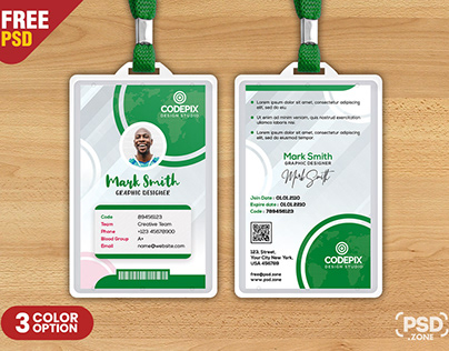 Simple Corporate Office Identity Card Design PSD