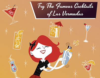 Vintage Style Posters for Las Vermudas Bar