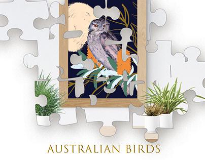 Australian birds. FREE set.
