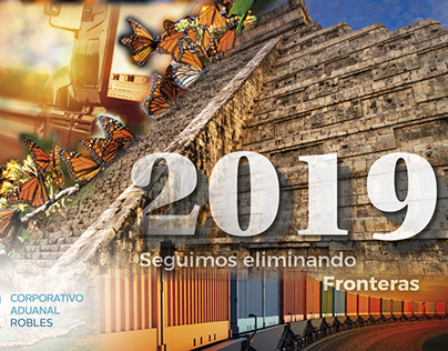 Calendario 2019 para Corporativo Aduanal Robles.