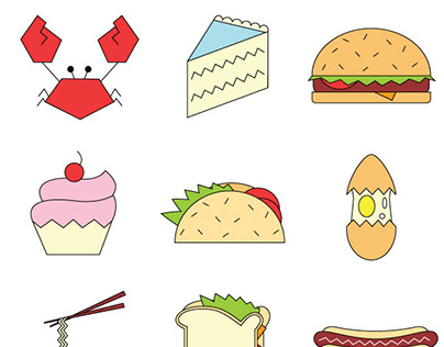 Food & Beverage Icon Set