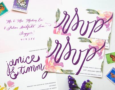 Floral Jamming Invitation Design