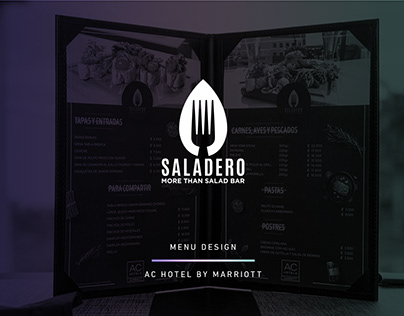 Saladero Menu Design - AC Hotel by Marriott