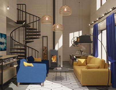 Дизайн загородного дома 116 кв м