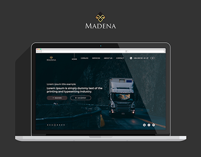 Madena Website Redesign