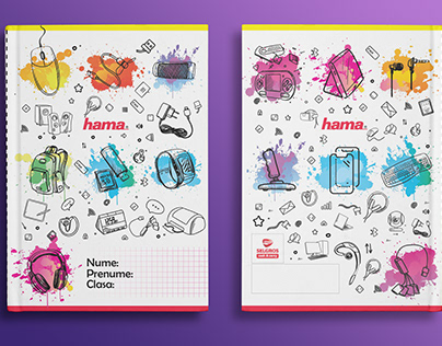 Hama Romania School Notebook graphics