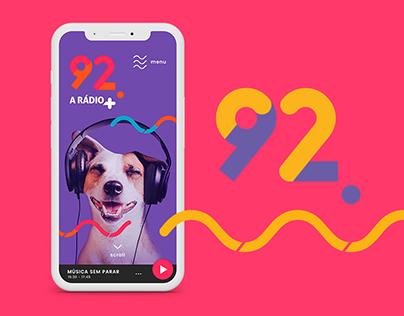 Rádio 92 FM | Landing Page
