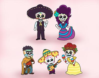 Mexican Skeleton Family