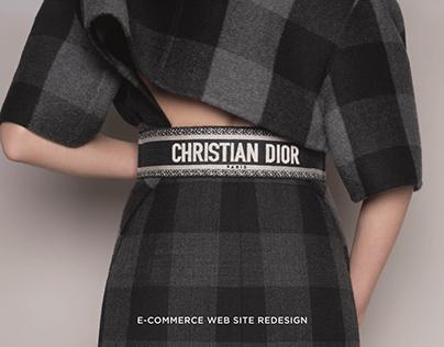 Dior web store redesign
