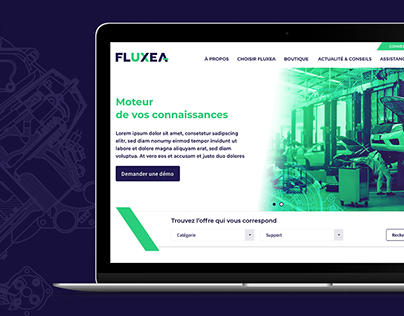Fluxea - Site internet corporate et e-commerce