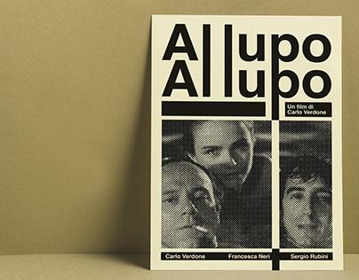 Tribute movie poster - Al lupo al lupo - Carlo Verdone