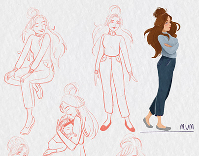 Character design for 'mum' character