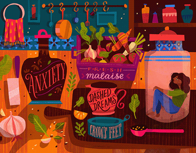 The Girlfriend Letter - Editorial Illustration