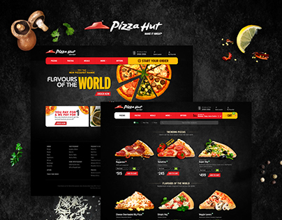 Pizza Hut Desktop Website