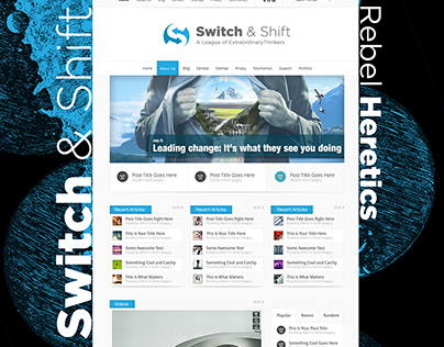 Early branding concepts for Switch & Shift, 2014